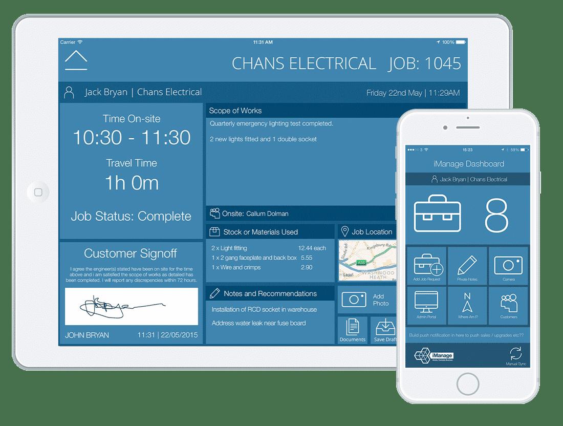 iManage-jobsheet-app-iPad-and-iPhone